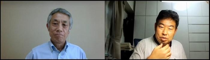 スピーカーの藤沢氏(左)とモデレーターの図司氏(右)